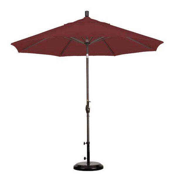 9 Foot Umbrella Aluminum Market Push Tilt - Bronze/Olefin/Terracotta, image 1