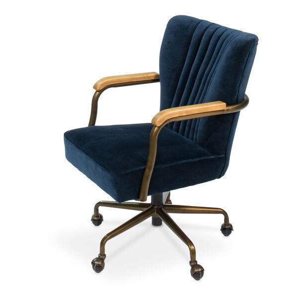 Blue Brooks Swivel Upholsterd Chairs, image 1