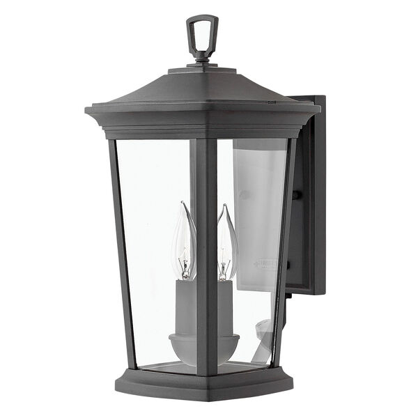 Bromley Museum Black 16-Inch Two-Light Outdoor Small Wall Mount, image 1