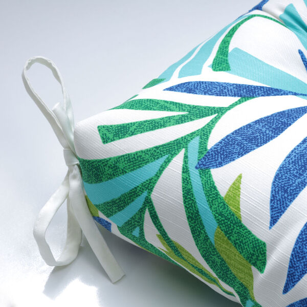 Islamorada Blue and Green 52-Inch Tufted Bench CUshion, image 3