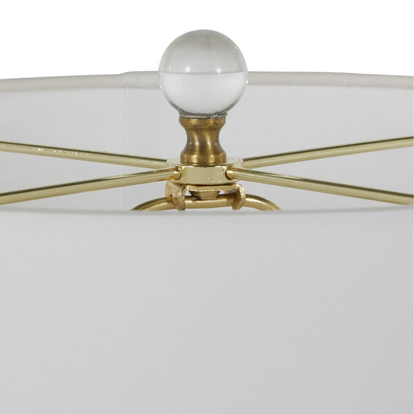 Wheeler White and Antique Brass One-Light Table Lamp, image 4