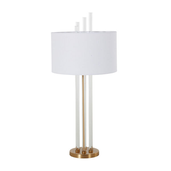 Merna Antique Brass and White One-Light Table Lamp, image 5