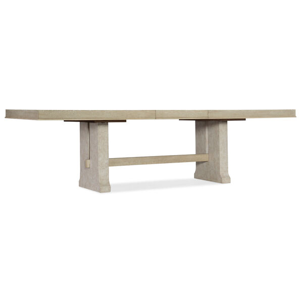 Cascade Taupe Rectangle Dining Table with One 22-Inch Leaf, image 2