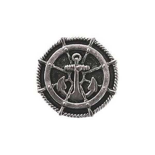 Brite Nickel Ship's Wheel Knob , image 1