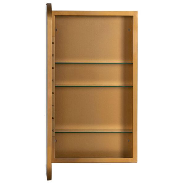 Hadley Gold Surface Medicine Cabinet with Adjustable Shelves, image 4