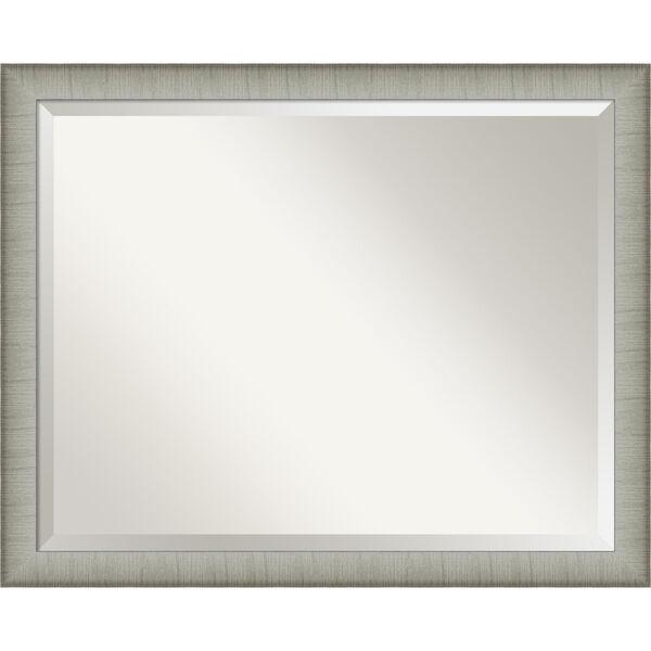 Elegant Pewter 31W X 25H-Inch Bathroom Vanity Wall Mirror, image 1