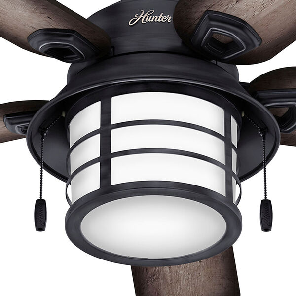 Key Biscayne Weathered Zinc 54-Inch Two-Light Fluorescent Adjustable Ceiling Fan, image 6