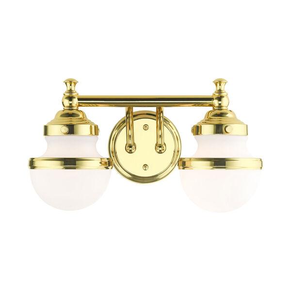 Oldwick Polished Brass Two-Light Bath Vanity, image 1