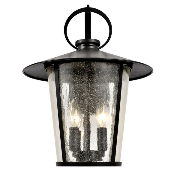 Andover Matte Black Four-Light Outdoor Wall Mount, image 2
