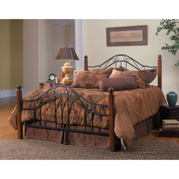 Madison Textured Black Queen Complete Bed, image 1