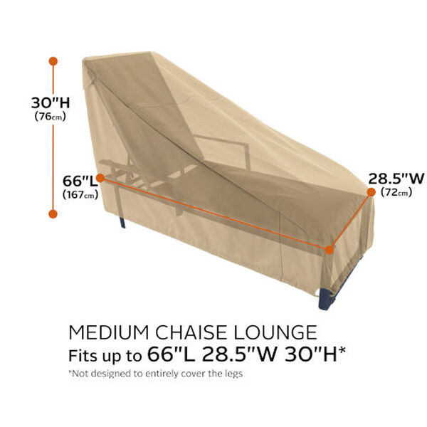 Palm Sand Patio Chaise Lounge Chair Cover, Set of 2, image 4