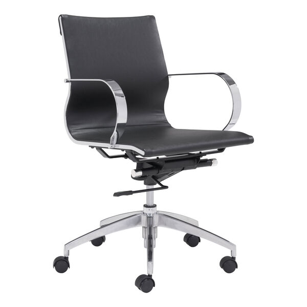 Glider Low Back Office Chair Black, image 1