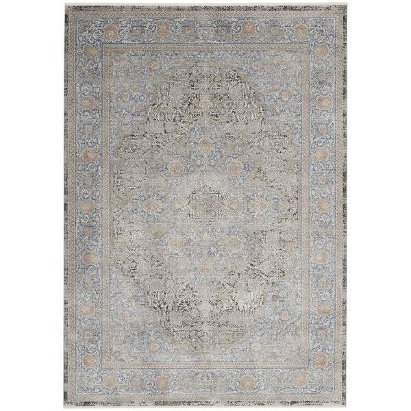 Starry Nights Blue Rectangular: 5 Ft. 3 In. x 7 Ft. 3 In. Area Rug, image 1