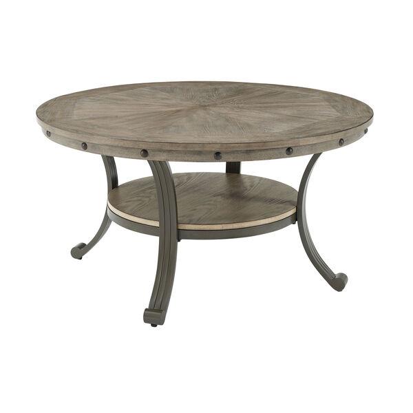 Elizabeth Pewter Round Coffee Table, image 5