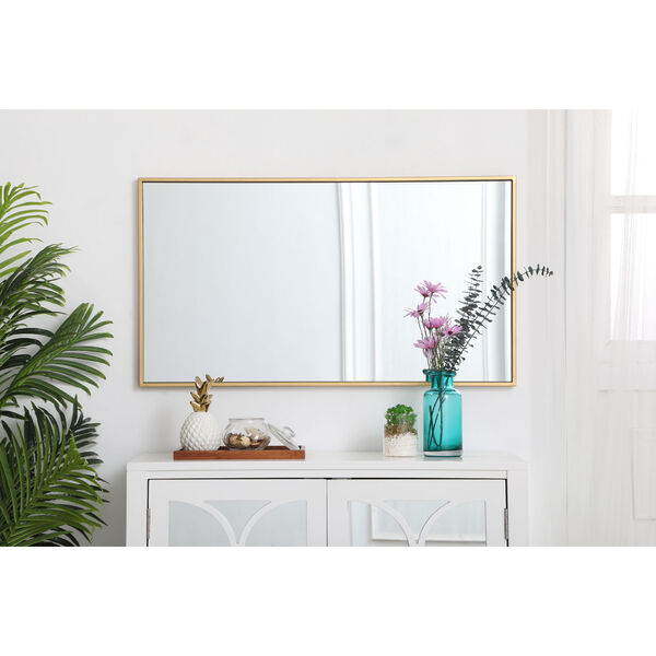 Eternity Brass 20-Inch Rectangular Mirror with Metal Frame, image 6