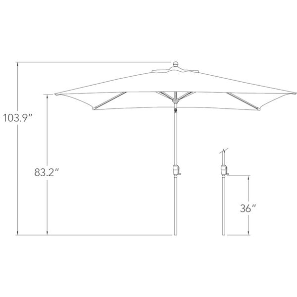 Catalina Blue Sky Market Umbrella, image 6