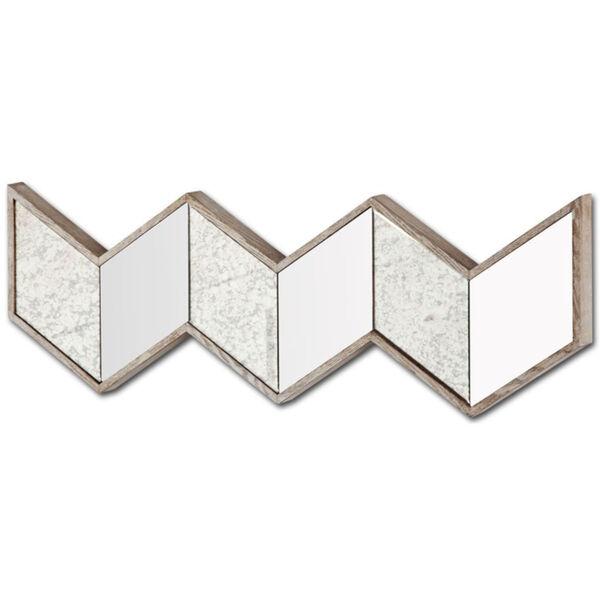 Cheveronna Brown 14-Inch Wood Frame Wall Mirror, image 1