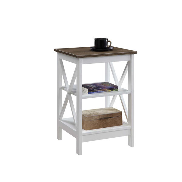 Oxford Driftwood White End Table, image 3