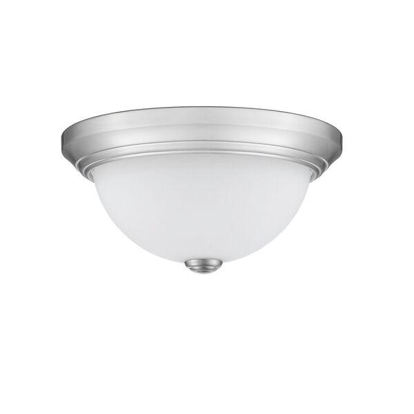Chrome 11-Inch Two-Light Flush Mount, image 2