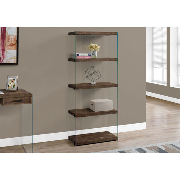 Brown 12-Inch Bookcase, image 2