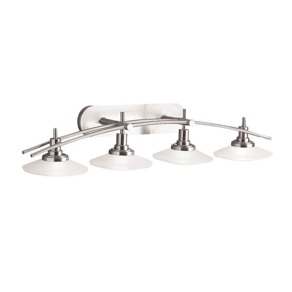 Brushed Nickel Four-Light Wall Sconce, image 1