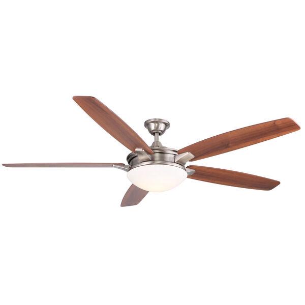 Novato Nickel 70-Inch LED Ceiling Fan, image 1