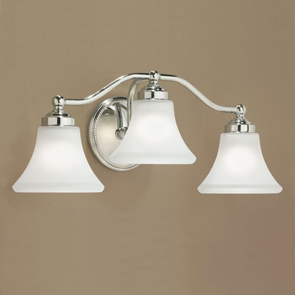 Soleil Chrome Three Light Wall Sconce, image 1