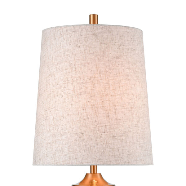 Stissing Brown Burlwood Aged Brass One-Light Table Lamp, image 3