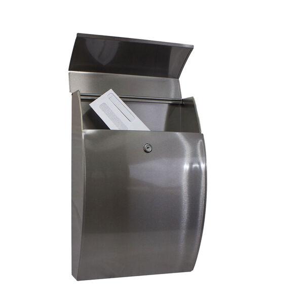 Glacial Locking Mailbox Stainless Steel, image 2