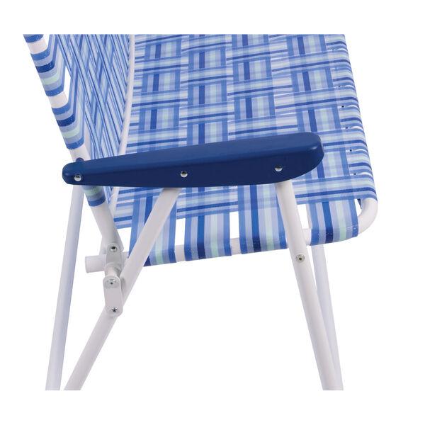 Blue White Web Love Seat, image 5