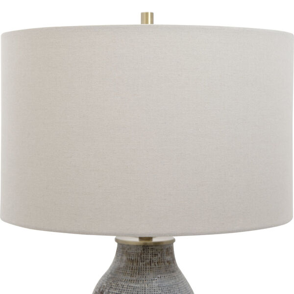 Monacan Gray One-Light Textured Table Lamp, image 5