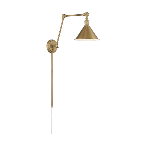 Delancey Brass Polished One-Light Adjustable Swing Arm Wall Sconce, image 5