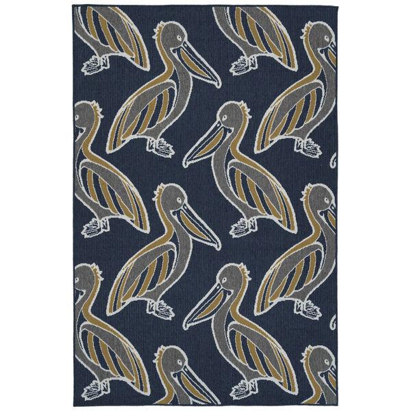 Navy Pelican Indoor/Outdoor Rug, image 1