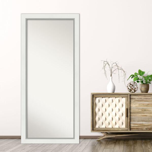 Eva White and Silver 29W X 65H-Inch Full Length Floor Leaner Mirror, image 5