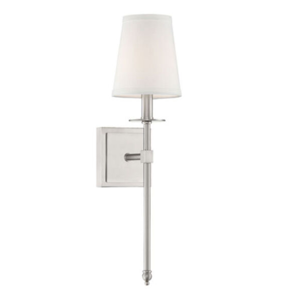 Linden Brushed Nickel 20-Inch One-Light Wall Sconce, image 1