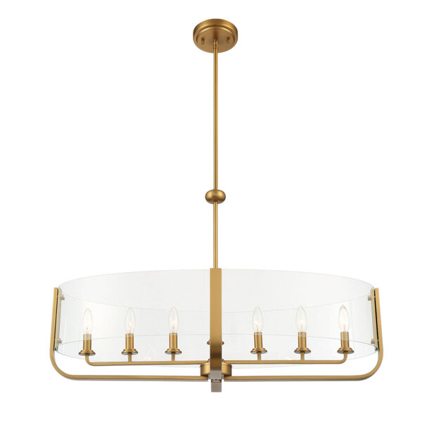 Campisi Brass Eight-Light Oval Chandelier, image 2