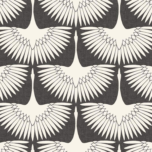 Feather Flock Storm Grey 28 Sq. Ft. Peel and Stick Wallpaper, image 2