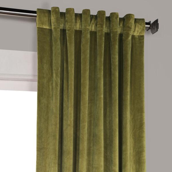 Green 84 x 50 In. Plush Velvet Curtain Single Panel, image 9