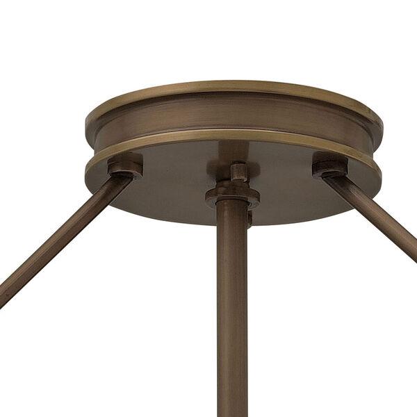 Collier Light Oiled Bronze 22-Inch LED Semi-Flush Mount, image 3