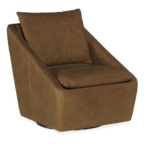 Coeval Brown Swivel Club Chair, image 1