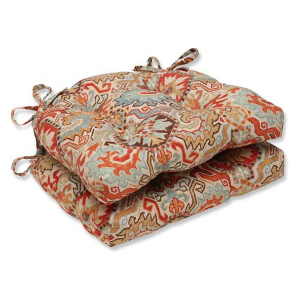 Madrid Multicolor Reversible Chair Pad, Set of 2, image 1