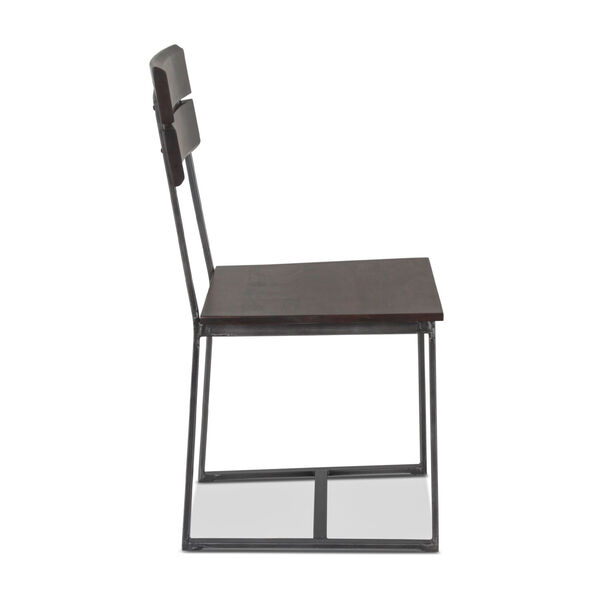 Augusta Dark Brown and Gray Dining Chair, Set of 2, image 4