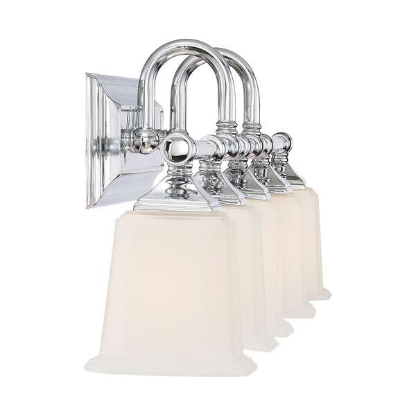 Nicholas Polished Chrome Five-Light Bath Light, image 4