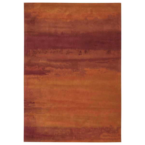 Luster Wash Russet Tones Rust Rectangular: 8 Ft. 3 In. x 11 Ft. Rug, image 1