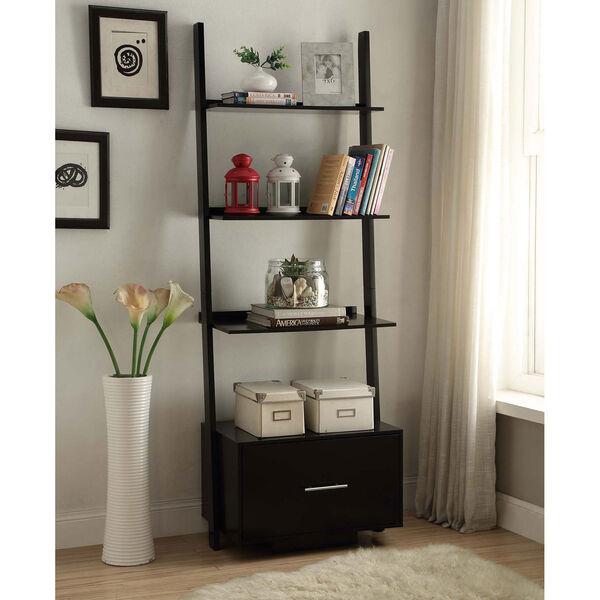 American Heritage Black Ladder Bookshelf, image 3