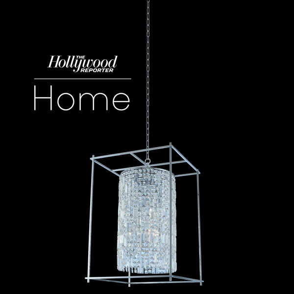 The Hollywood Reporter Joni Chrome 21-Inch Six-Light Pendant with Firenze Crystal, image 1