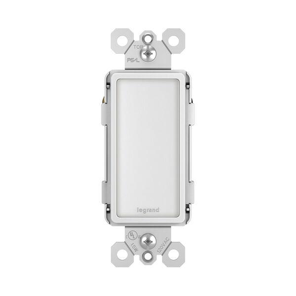 White Full Night Light with Adjustable Light Levels, image 1