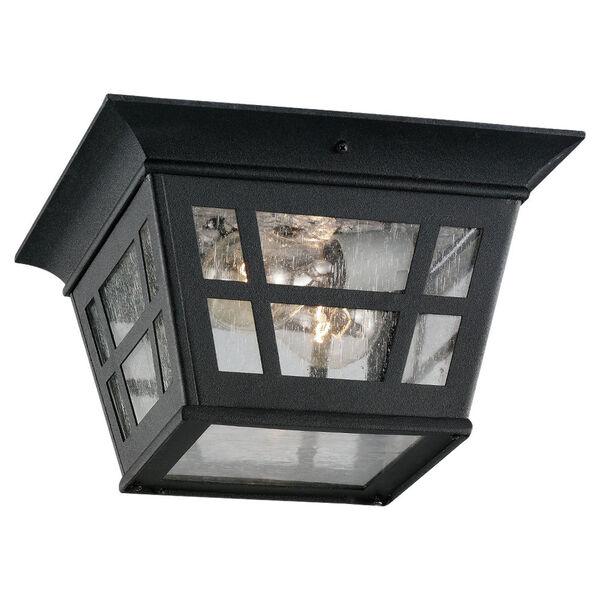Herrington Two-Light Black Outdoor Flush Mount, image 1