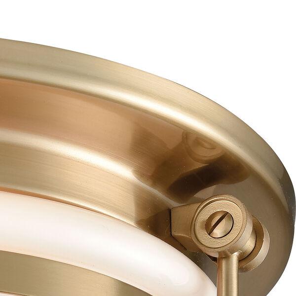 Riley Satin Brass Two-Light Flush Mount, image 4