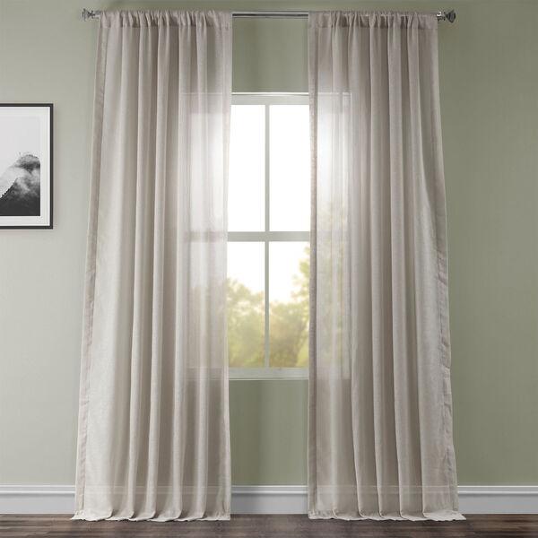 Tumbleweed Faux Linen Sheer Single Panel Curtain Panel, 50 X 108, image 1